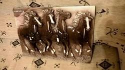 Román kerámia faldísz lovacskás
