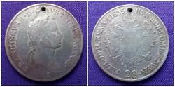I. Ferenc 20 krajcár 1835 E