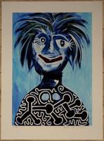 """Paul Kostabi eredeti alkotása: """"Félidő"""""""