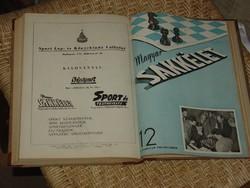 MAGYAR SAKKÉLET 1952  1-12 SZÁM TELJES!!