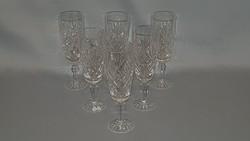 Kristály üveg pohár 6 db