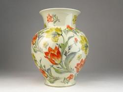 0U585 Régi tulipános Thomas Ivory porcelán váza