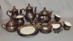 Régi Bravaria dekor feinsilver teás / kávés készlet darabok