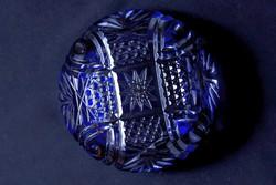 Kék ólomkristály hamutál