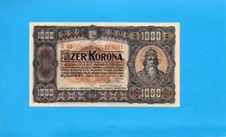 1 x hajtott Extra szép 1000 Korona 1923