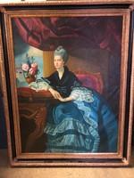 Francia kék ruhás grófnő