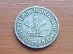 NÉMET NSZK 10 PFENNIG 1969  D