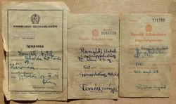Békekölcsön jegyzési igazolás 1952,54,55 évekből