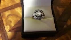 Antik Art Deco brilliáns gyűrű