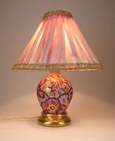 0U747 Régi iparművészeti rózsaszín éjjeli lámpa