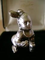 Ezüst  JAPÁN miniatűr figura