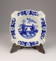 0U670 Kék fehér londoni porcelán hamutál