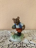 """Herendi """" mézes medve """" figurális porcelán szobor, sorszámozott, jelölt"""