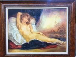 Csomor Katalin nagyméretű olajfestménye 102x82 cm