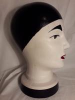 Mid century Scheurich - Pierot bohóc fej jelzett ritka kerámia a 70-es évekből