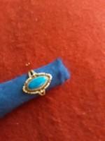 Ezüst  gyűrű   925  57  méret   kék köves   6000  ft