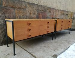 Extra loft, mid century, retró design fiókos komód, sideboard pár