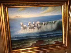 45x50cm olaj vászon festmény