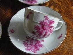 Herendi antik kávés csésze alátét tányérral!