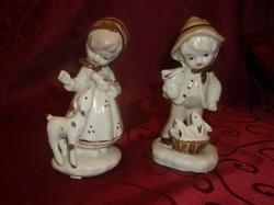 Német porcelán gyerek páros