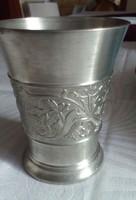 Gyönyörű BMF ón pohár, kupa, 8 cm magas