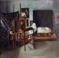 Magyar festő XX. század első fele : Műterem