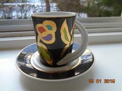 A tervező művész szignójával újszerű Rosenthal modern mokkás készlet Espresso nr.21 Studio Line