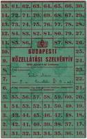 BUDAPESTI KÖTELLÁTÁSI SZELVÉNYÍV - 1945 JANUÁR 1
