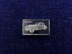 Bugatti 1935 autós ezüst lapka