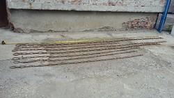 80 méter antik kovácsoltvas láncok
