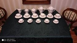 Zsolnay teás és kávéskészlet, 1925 körül gyártott  5 tornyos márkajelzésű hibátlan mindegyik darab.