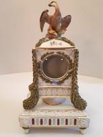 KURIÓZUM!!! Jelzett antik főnix madaras ampír empír porcelán óratok méhkas jelzés 40 cm