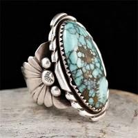 Tibeti ezüst türkiz köves gyűrű TEGY-ÁS19