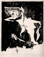 Almásy Aladár - Tél 24 x 20 cm rézkarc