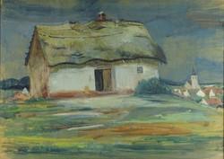 0U886 Ismeretlen festő : Faluszéli tanya