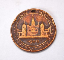 1906,milánói nemzetközi kiállítás érem.