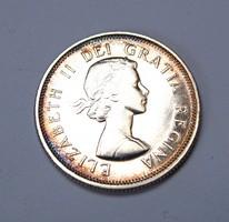 Kanada ezüst 25 cent 1962