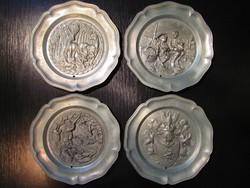 ÚJÉVI AKCIÓ - 4 db Antik Ón fali tányér (ALKUKÉPES)