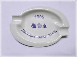 Zsolnay porcelán sakk kupa 1995 jelzett hamutál