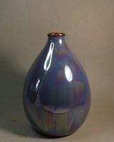 Retro irizáló váza lilás színben