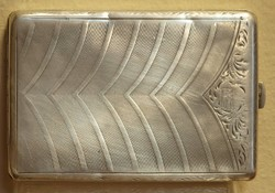 Ezüst cigaretta tárca ,133 gr ,800-s