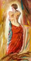 Moona - Nő kék kendővel ANNA RAZAMUSKAYA festménye után