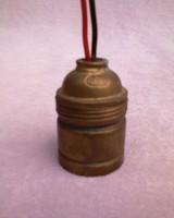 Réz villanyégő foglalat - jelzett + 1 db réz foglalat