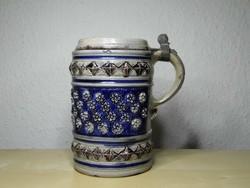 Westerwald sómázas kupa - söröskorsó 1700 körül ritka eredeti darab!