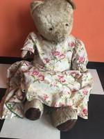 Mackó antik darab játék maci medve  NAGY 61 cm -es retro játék - Jól Öltözött