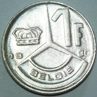 1 Frank - Belgium (Belgie) - 1990.