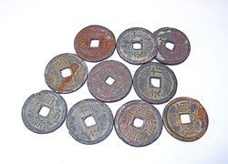 Ázsiai érmék...