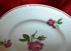 Rózsás fali tányér, dísztál  hagyatékból