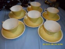 Roschütz német porcelán  hosszú kávés  teás csészék