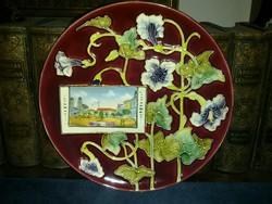 Kuny Domokos (?) tányér Szatmár képpel 1900 körül - 55 000 Ft